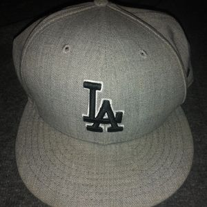 Los Angeles Dodgers Flat Billed Fitted Hat 7 5/8